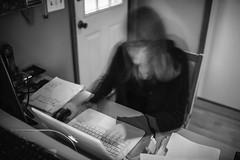 _MG_5629-3 (k.a. gilbert) Tags: longexposure bw kitchen work laptop ghost tripod working mother naturallight indoors motionblur kristen wife handheld inside fullframe milf 116 windowlight uwa ndfilter 10stop tokina1116mmf28 canon5dc