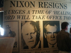 Nixon Resigns. He Urges a 'Time of Healing'. Ford Will Take Office Today' (hanneorla) Tags: usa minnesota architecture restaurant minneapolis twincities 2010 hanneorla thenewsroom minneapolisandstpaul nixonresignsheurgesatimeofhealingfordwilltakeofficetoday