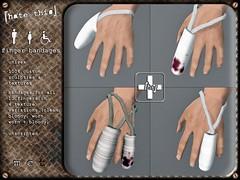 [ht+] finger bandages (Corvus Szpiegel) Tags: hospital this pain hurt blood accident cut finger grunge injury plaster pi