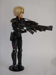 Sergeant Calhoun LE 17'' Doll - Handling Weapons - Aiming Rifle - Full Left Front View (drj1828) Tags: doll personal calhoun limitededition weapons sgt disneystore sergeant 17inch deboxed wreckitralph