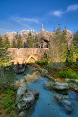 Magic Kingdom - River Crossing (SpreadTheMagic) Tags: bridge our castle water river restaurant orlando unitedstates florida magic kingdom disney be guest wdw hdr beasts fantasyland