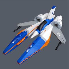 Gacchiri Z2 - VV Fighter (Fredoichi) Tags: fighter lego space vv shootemup starfighter gradius shmup microscale vicviper novvember fredoichi