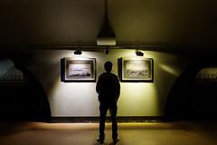 1930, 1970, and this guy (Charn High ISO Low IQ) Tags: nightphotography canon eos looking citylife seoul southkorea peeking lightandshadow underthebridge jamsil photoexhibition nightimage 600d jamsilpark