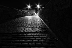 Cobbles (Nick Lambert!) Tags: street longexposure bridge lights scotland ayr cobbles streetscape nikond90