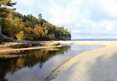 Reflecting on Autumn - Miner's Beach, Pictured Rocks National Lakeshore (Cole Chase Photography) Tags: autumn reflection fall canon october fallcolor michigan upperpeninsula autumncolor t3i picturedrocks picturedrocksnationallakeshore minersbeach autumnreflection michigansupperpeninsula