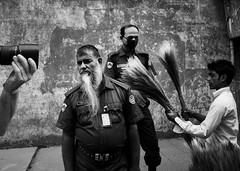 Old Dhaka,Street (Javed.Miandad) Tags: road street camera bw canon alley police moment bizarre 550d