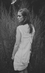 (trench_mouth) Tags: portrait blackandwhite whitedress trenchmouth angieroyer