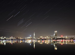 Cityscape (nd-n) Tags: longexposure cambridge reflection water boston skyline night river stars cityscape massachusetts charlesriver charles astrophotography orion startrails sigma1020mm photostacking 13mm sigma1020mmf456exdchsm canoneos40d