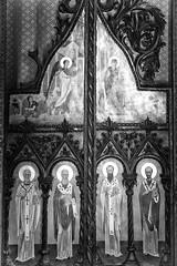 Door (big andrei) Tags: bw church grain monastery nicosia orounda ayiosnicolaos