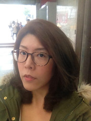 New color new hair style of mine. (Jushih / 種種; 日常。) Tags: 新髮型 newhairstyle 染髮 亞麻綠