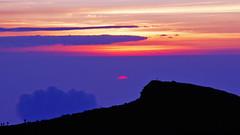The first light of day (mizgraph_) Tags: sky cloud sun mountain nature japan sunrise landscape rising dawn fuji mountfuji fujisan  magichour mtfuji daybreak fujiyama  dslra550