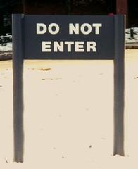 Exterior Wayfinding Regulatory Sign