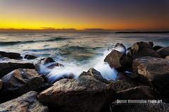 Fort Lauderdale Inlet Sunrise (simonrim) Tags: ocean beach sunrise rocks waves fortlauderdale inlet d90 handblended