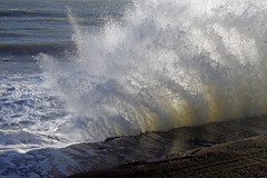 Whoosh (MPullin) Tags: sea wall waves rough bonchurch