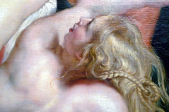 Rubens, The Rape of the Daughters of Leucippus, detail with head of lower woman
