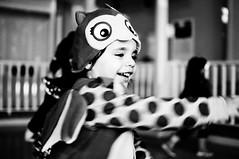 Spin-o-rama (Craig's Collection) Tags: portrait bw cute halloween blackwhite lowlight nikon dancing owl nikkor highiso d90 35mm18