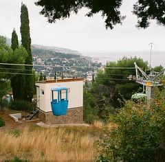 (Natalia Shlyakhovaya) Tags: sea mountains car landscape coast waves ride cable roofs peninsula crimea yalta blacksea crimean