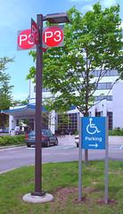 Exterior Wayfinding Parking Lot Signage and Post & Panel Directional Sign