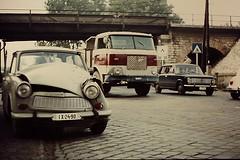 Poor TRABI (streamer020nl) Tags: bridge hungary accident budapest 1975 1200 ungarn lada trabant mts skoda magyarorszag trabi unfall hongarije 706 aquincum szentendreiút