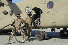 Chinook refuel (The U.S. Army) Tags: