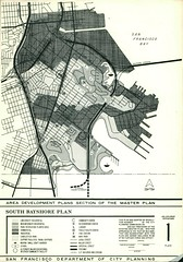 South Bayshore Plan, Area Development Plans Section of the Master Plan (1970) (Eric Fischer) Tags: sanfrancisco bridge map plan freeway hunterspoint bayview landuse candlestickpoint