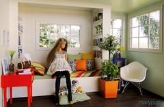 momoko bedroom (maryPOP(!)) Tags: blythe licca diorama dollhouse momoko casadeboneca roombox 16scale moderminiature