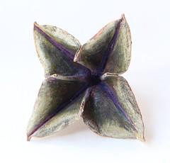 foldformed brooch (Cynthia Del Giudice) Tags: paint handmade jewelry jewellery metalwork copper etsy patina sterlingsilver cynthiadelgiudice foldforming foldform