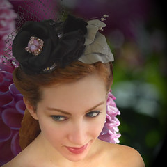 Jeweled Black Rose (tracyholcombdesigns) Tags: wedding portrait texture beauty rose vintage unique beautifulwoman hairpiece hairaccessories vintagebutton weddinghair vintagebrooch hairwear bridalhairpiece tracyholcomb tracyholcombdesigns bridalcustomhairwear rememberthatmomentlevel1 rememberthatmomentlevel2 ballroomdancehairwear bridalfloralhairpiece