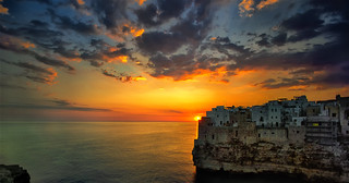 Sunrise in Polignano a Mare