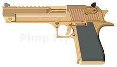 Gold Desert Eagle (-Yoshifan151-) Tags: gold gun desert eagle action cal express pimp 50 ae imi pmg iwi