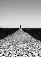 Lighthouse at Sagres - Portugal (SRHart (84)) Tags: light shadow summer blackandwhite lighthouse white black portugal architecture contrast vanishingpoint flickr mediterranean path decay perspective award olympus architectural crack strong strongcontrast sagres anawesomeshot flickraward diamondclassphotographer flickrdiamond flickraward5 flickrawardgallery