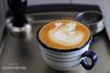 本來是要拉葉子,但拉到最後發現失敗了...改拉天鵝.....囧囧 (nodie26) Tags: art cup water coffee hearts leaf cafe heart tea drink espresso latte 咖啡 心 下午茶 拿鐵 葉子 愛心 拉花 義式咖啡