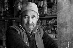 Storekeeper, Panikhar J&K India (mafate69) Tags: voyage travel portrait bw india man asian asia photojournalism nb asie kashmir himalaya himalayas jk hommes inde reportage southasia subcontinent northindia jammuandkashmir photojournalisme indiahimalayas chiite photoreportage suruvalley shias asiedusud blackandwhyte earthasia panikhar himalayasproject souscontinent