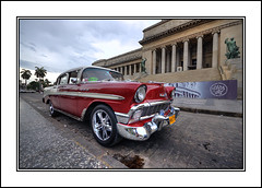 Red classic car, Habana (Joseph Molinari) Tags: old city travel viaje red classic tourism car la rojo nikon tour havana cuba vieja coche habana viejo clasico kuba tourismo cuidad d90