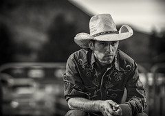 tension... (jk.photos) Tags: portrait horses people cowboys blackwhite nikon events rodeo wyoming jacksonhole cowboyhats cowboyboots jacksonwy d700 rodeocowboys rodeowyoming