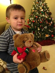 D with Kate's childhood Xmas bear