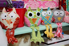 owl13 (sewinluv) Tags: sewing fabric owl quilting pincushion applique