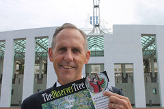 Bob Brown supports Observer Tree 14 02 2012 (observertree) Tags: canberra talltree bobbrown tasmanianforests internationaldayofaction observertree forestdefence observertreeoneyear