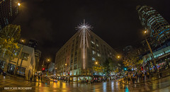 Star of Seattle (KPortin) Tags: star fisheye macys 4thavenue westlakecenter photostroll seattleflickrmeetup seattleflickrites mse121212westlake stroll1212