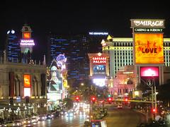 Strip at night - Las Vegas, Nevada