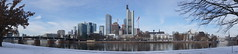 Frankfurt am Main snow panorama (barnyz) Tags: city urban snow reflection tower skyline architecture modern skyscraper river germany frozen am cityscape hessen rooftops frankfurt sony main 16mm frankfurtammain commerzbank eurotower nex3