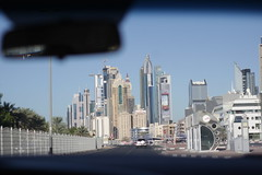 Leaving Jumera (Jonny Cairns) Tags: city trip sea sun holiday beach skyline sand dubai driving journey whitesand daytrip jumera