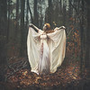 Inner Light (Shelby Robinson) Tags: pink blue red portrait girl up leaves angel self canon rebel wings woods god head 14 evil help mm rise 50 teenage nightgown t1i