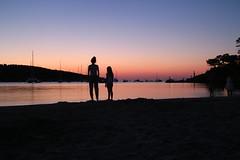 Ibiza sunset ! (chrisnormandale) Tags: girls beach sunset silhouette ibiza balearics summer island canon eos m wwwchrisnormandalecom