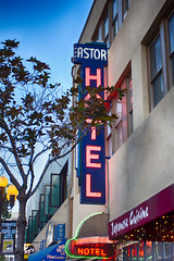 Astor Hotel, San Diego, CA (Photos By Clark) Tags: california canon1740 canon60d cities locale location northamerica places sandiego unitedstates where downtown sd gaslamp hotel astor neon hdr lightroom hdrefx