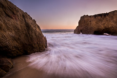 Incoming Wave (Karl Erik Vasslag Photography) Tags: malibu elmatadorstatebeach elmatador beach california losangeles losangelescounty west westcoast unitedstates sunset landscape seascape longexposure wave pacificocean rocks wow