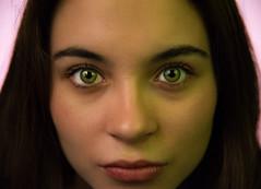 Intense Green Eyes (HugoDelCidPhotodesign) Tags: ojos verdes color