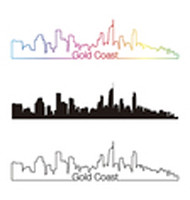 Gold Coast skyline linear style with rainbow (Logo Mania) Tags: goldcoastskyline goldcoast skyline australia oceania travel architecture backgrounds building city cityscape downtown illustration isolated landmark metropolis outline panorama silhouette skyscraper tower urban vector black rainbow multicolored