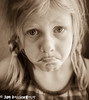 Pouty Girl (cuddleupcrafts) Tags: pouty girl portrait pose image child lip stuck out sepia sad redhead