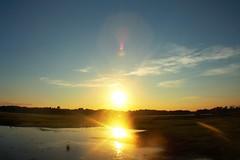 double sun (f.tyrrell717) Tags: sun set orang double whit bogs